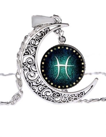 Pisces Moon Shine Constellation Pendant Necklace