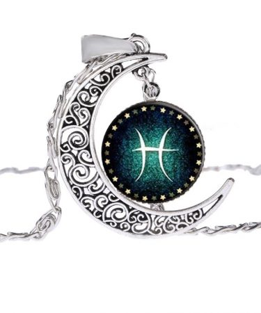 Pisces Moon Shine Constellation Pendant Necklace