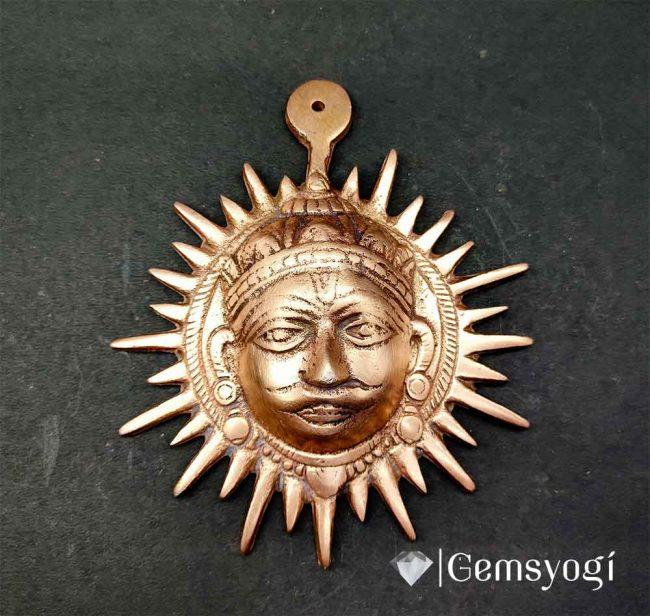 Copper_surya_devta_kawach_for main door_entrance_gemsyogi.com